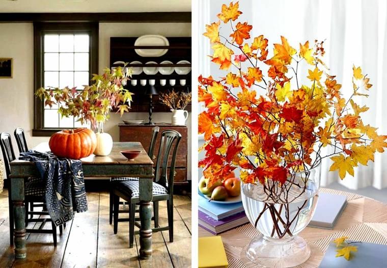 ideas de decoracion-hojas-ramas
