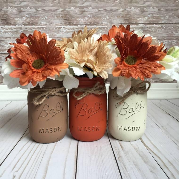 ideas para decorar-mesa-flores-otono