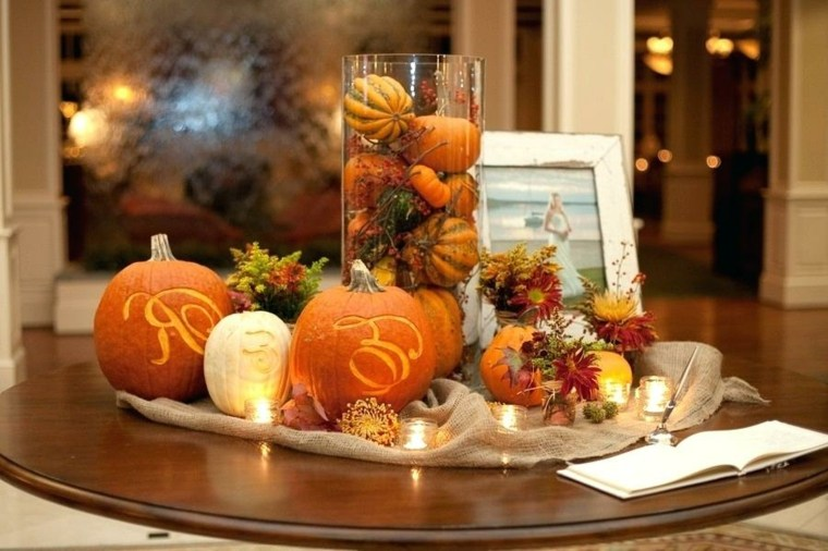 ideas para decorar-mesa-otono