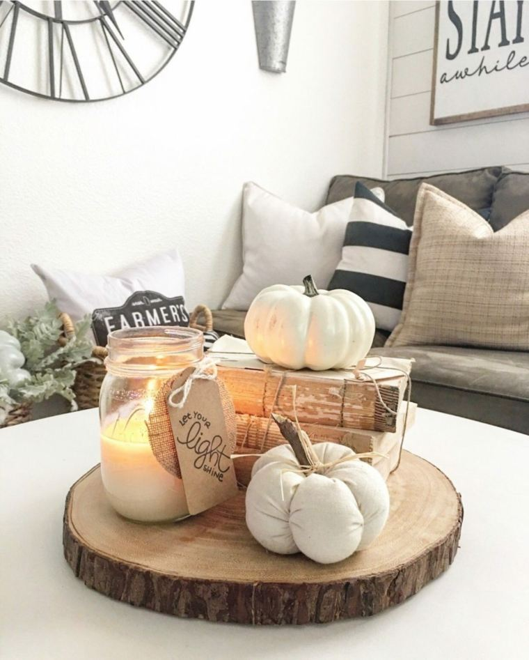 decoración moderna de otoño