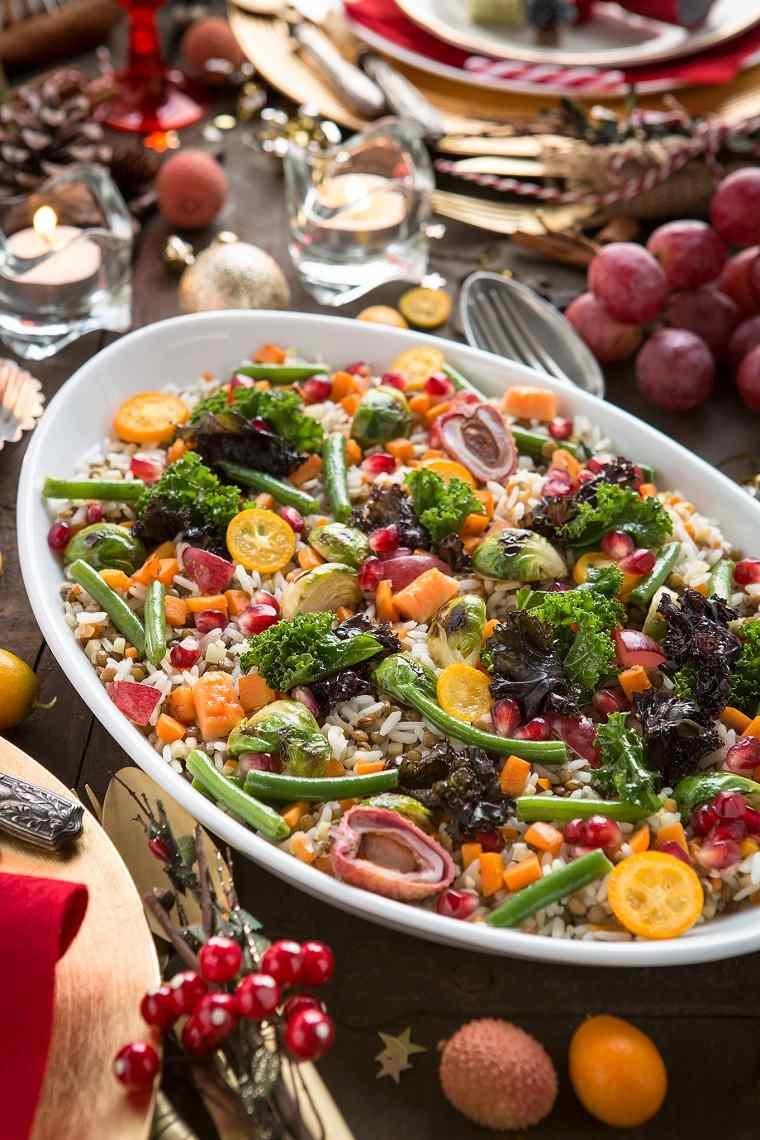 lentejas con verduras-enslada-arroz-receta