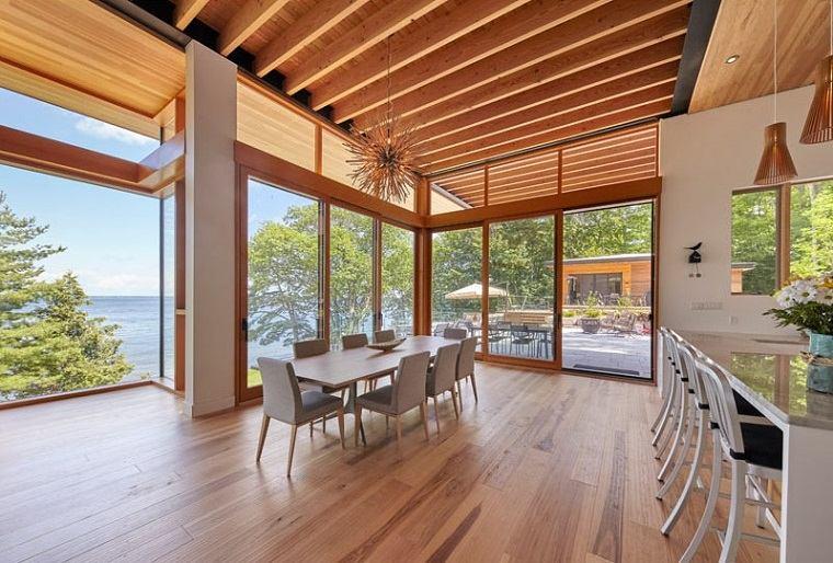 madera material protagonista espacios