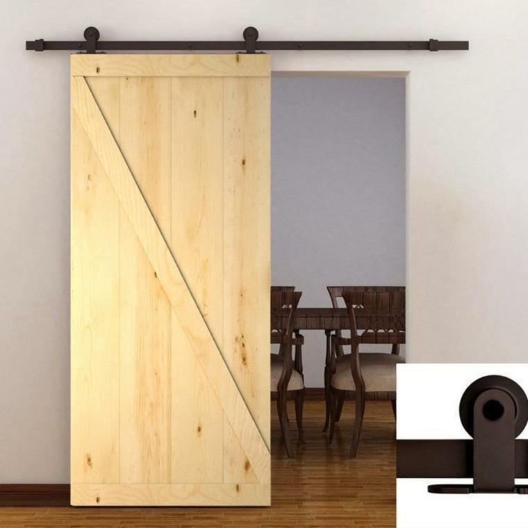 puertas corredizas de madera engranaje