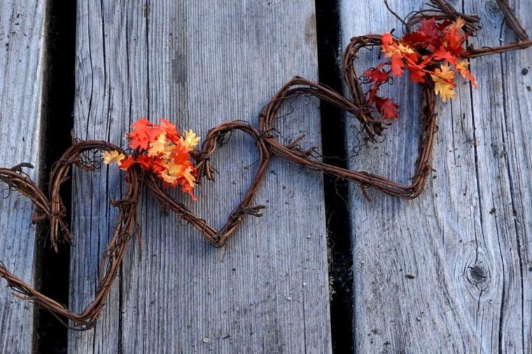 manualidades con hojas secas-decorar