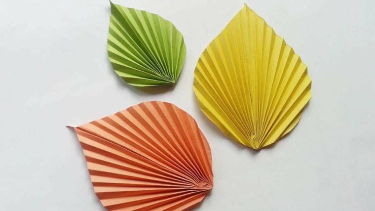 manualidades de otono-hojas-papel