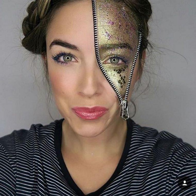 maquillaje-de-dia-de-muertos-brillo-color-oro