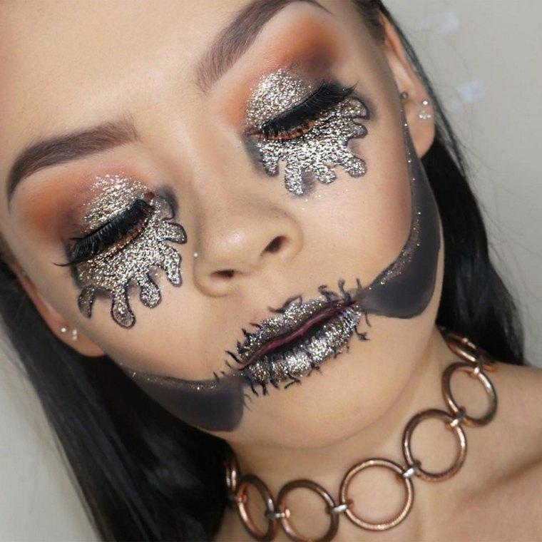 maquillaje-halloween-brillos-opciones-estilo-moderno