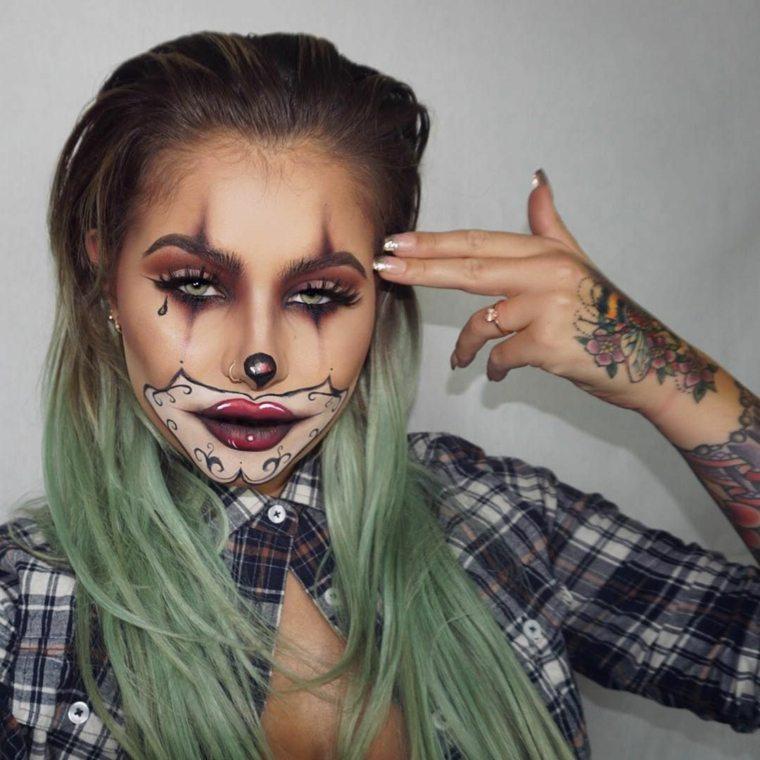 maquillaje-halloween-bufon-ideas-atractivas