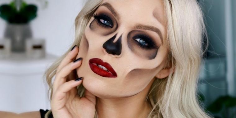 maquillaje-halloween-calavera-ideas-estilo-atractivo