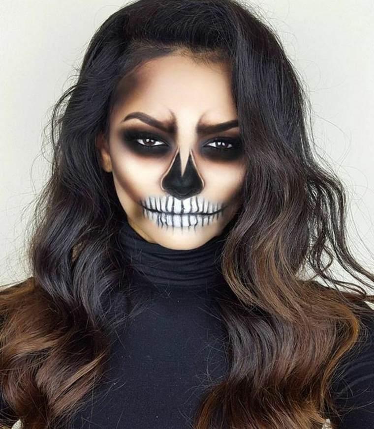 maquillaje-halloween-calavera-original-estilo-chica
