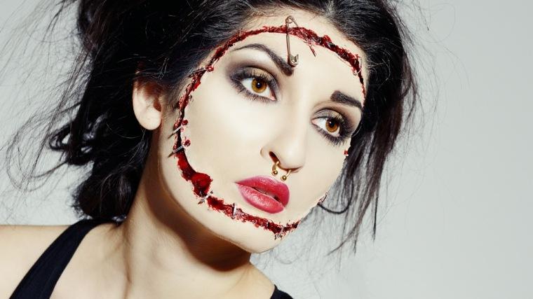 maquillaje-halloween-cicatrices-rostro-sangre-ideas