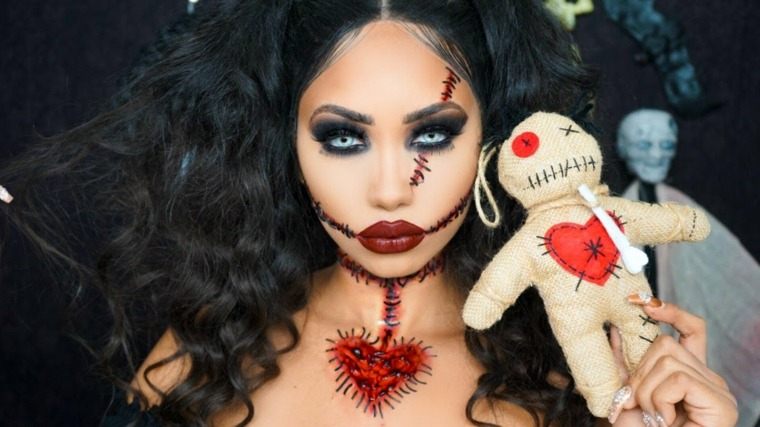 maquillaje-halloween-muneca-voodo-ideas-originales