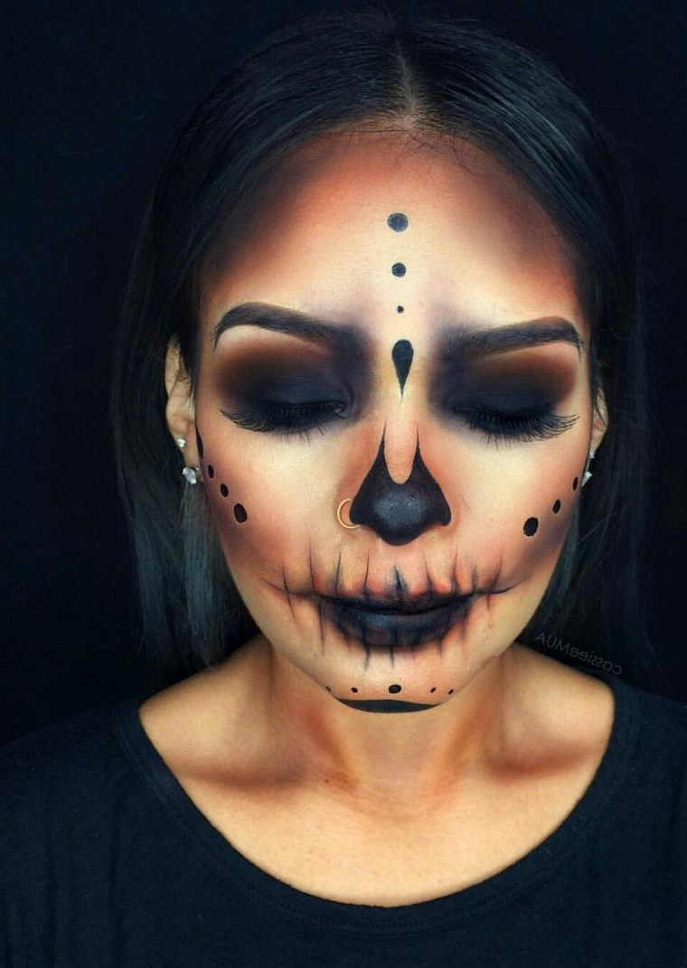 maquillaje-halloween-oscuro-ideas-originales
