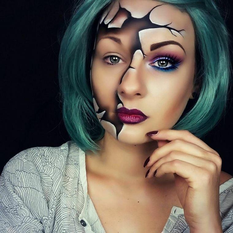 maquillaje-halloween-rostro-roto-ideas
