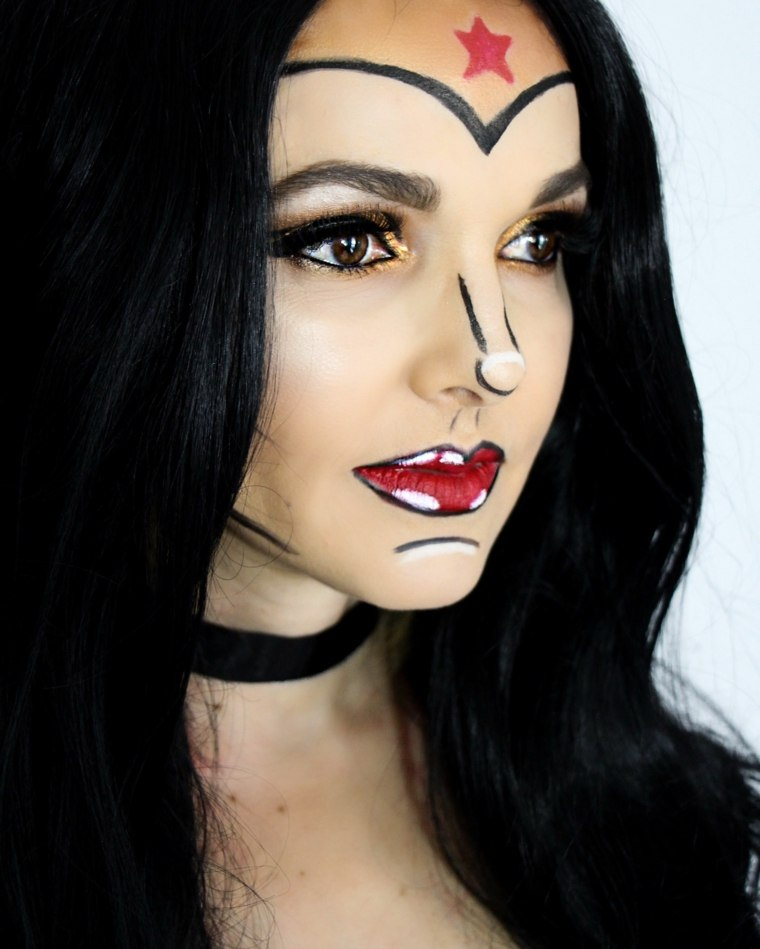 maquillaje-halloween-wonder-woman-