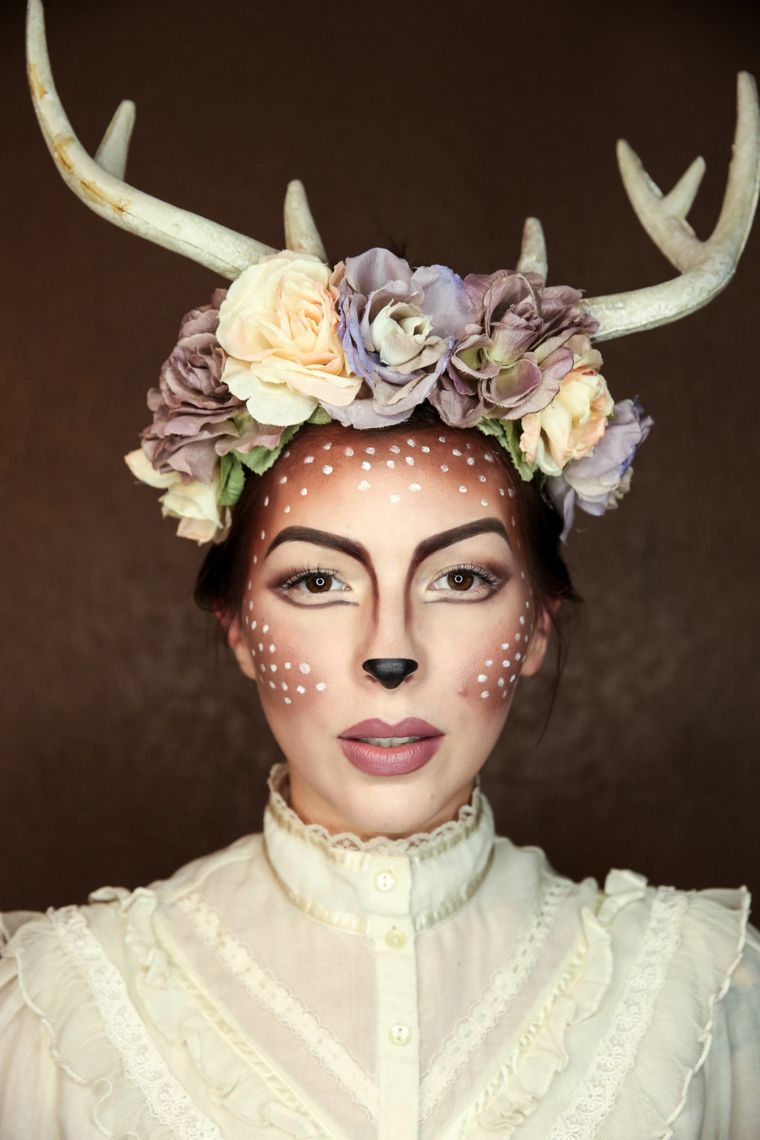 maquillaje-helloween-chica-reno-bello