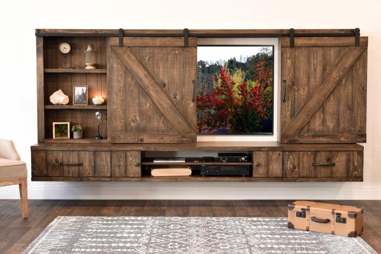 puerta deslizante gabinete tv
