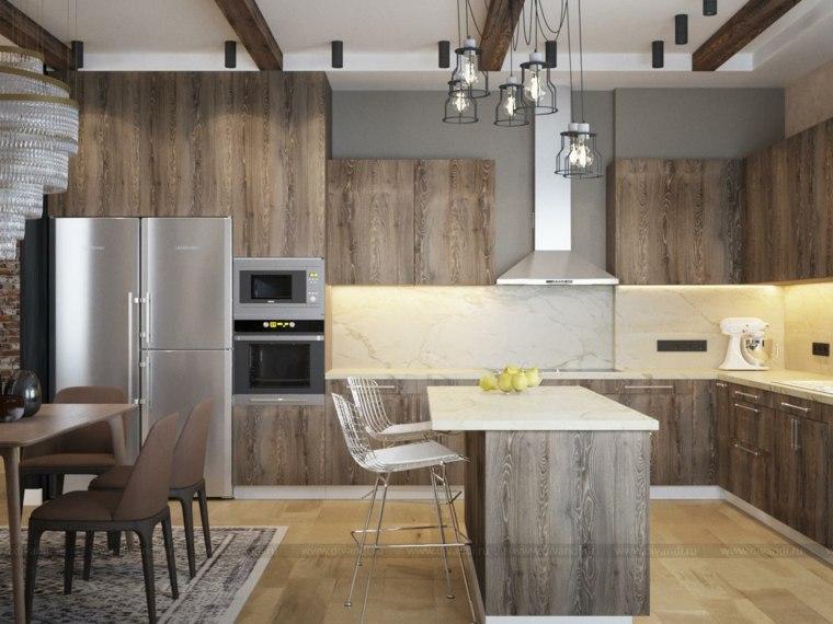 muebles cocina americana-moderna