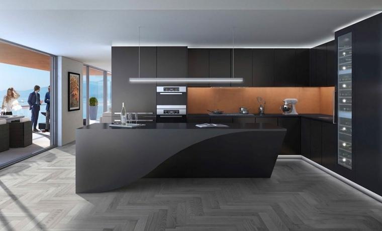 muebles de cocina americana-moderna