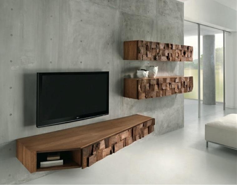 muebles minimalistas-madera-interior