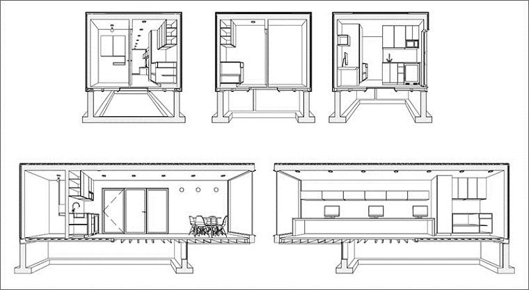 oficinas modernas esquemas compartimentos
