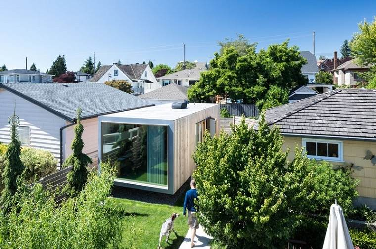 oficinas modernas jardines exteriores