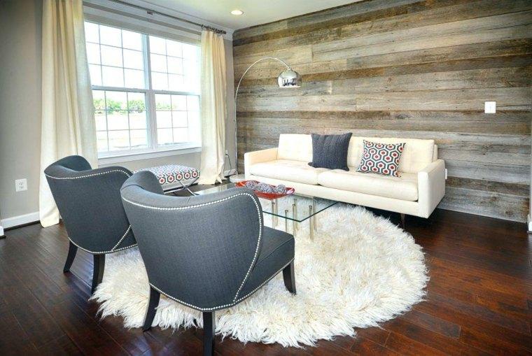 Acento de madera en las salas de estar