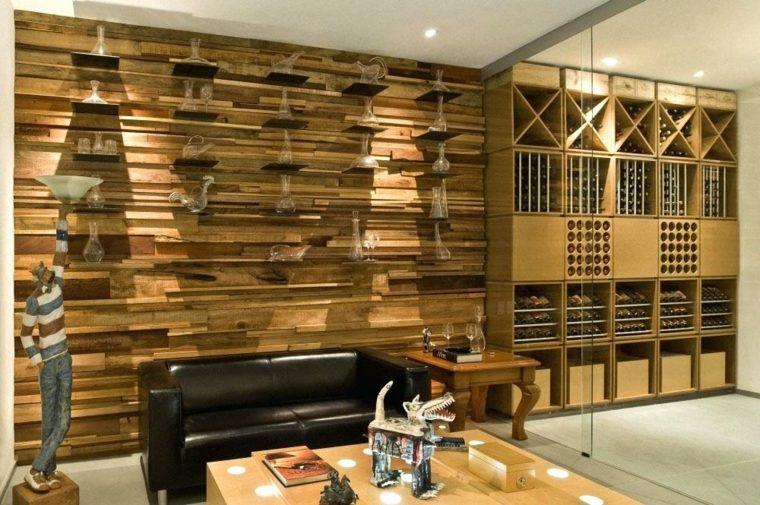 Revestimiento de pared con acabado de madera