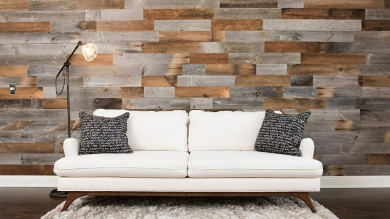 bonita pared de acento de madera