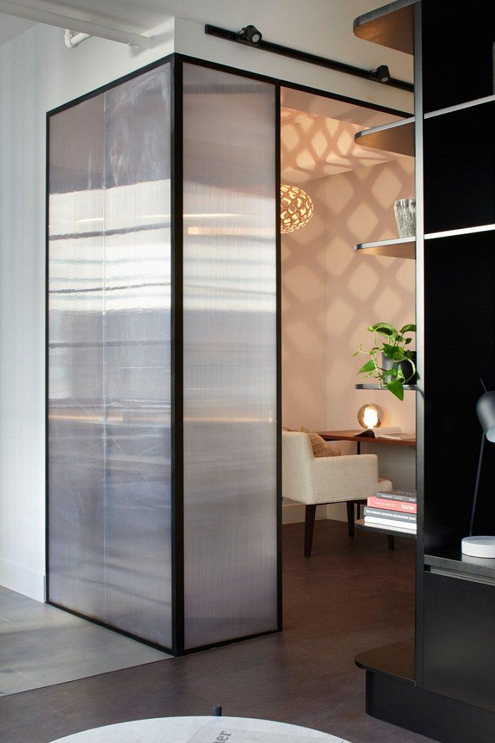 paredes decoradas policarbonato oficina