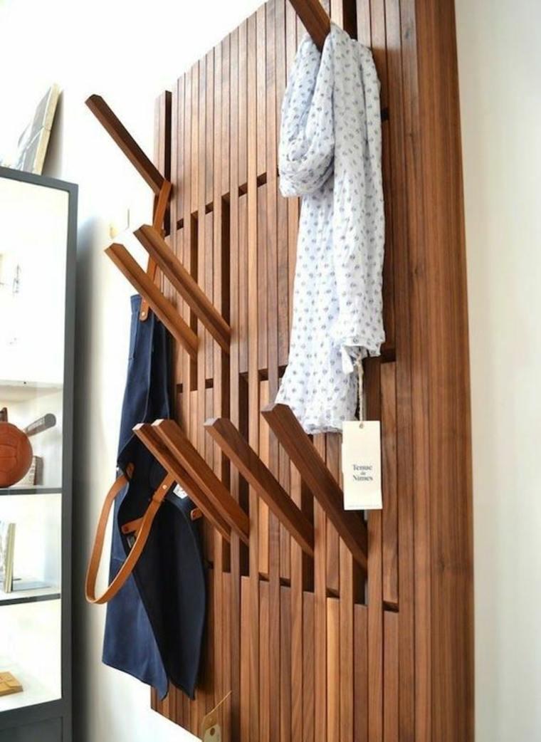 percheros para ropa de-madera