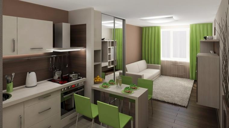 piso verde decoracion-cocina