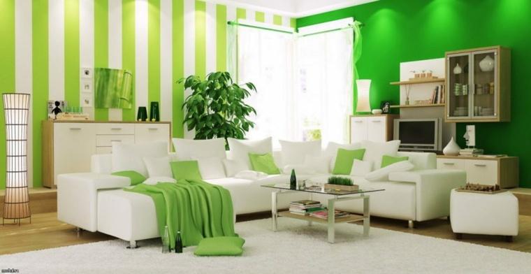 piso verde decoracion-elementos-blancos