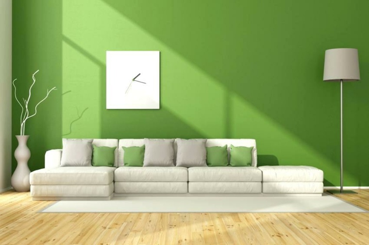 piso verde decoracion-moderna-salon