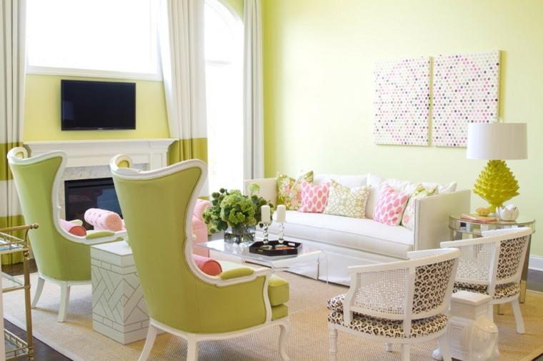 piso verde decoracion-sala-de-estar