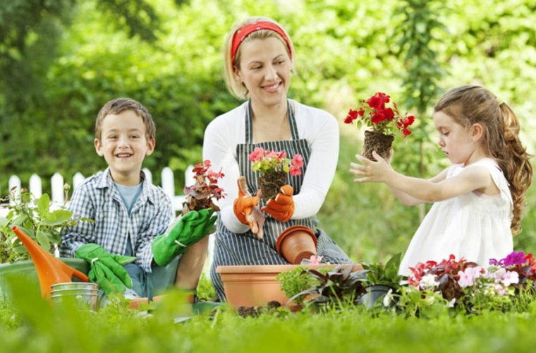 Diversión en el jardín