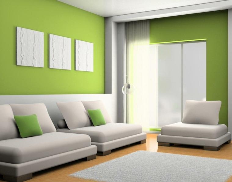 psicologia del color verde-interiores