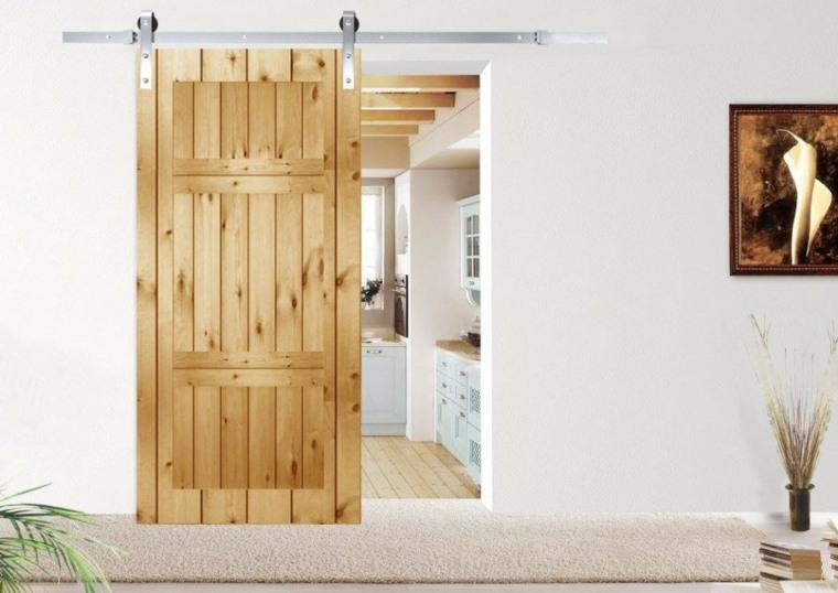 puertas corredizas de madera modernas