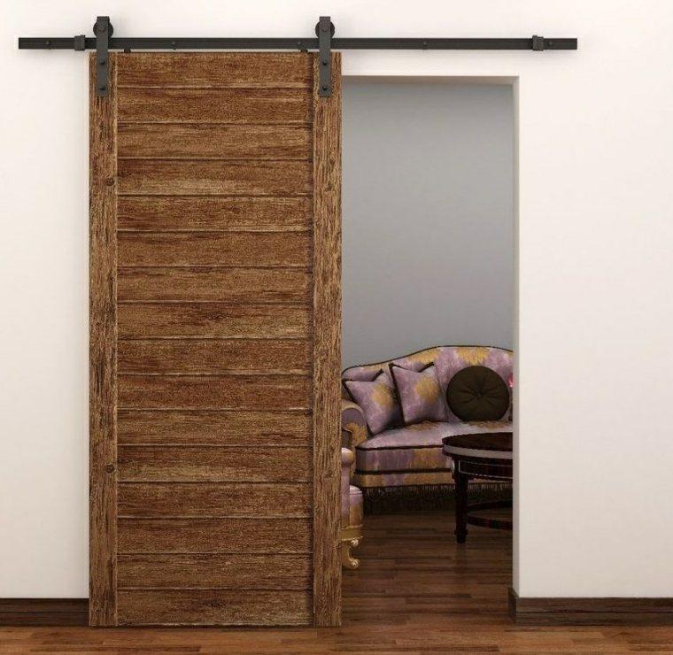 puertas corredizas de madera laminada