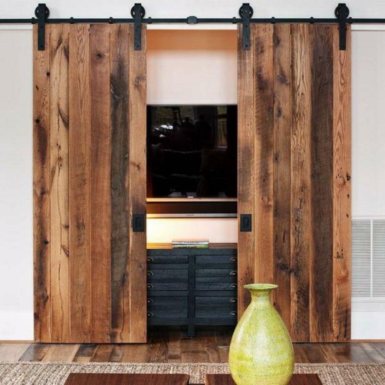 puerta deslizante mueble tv