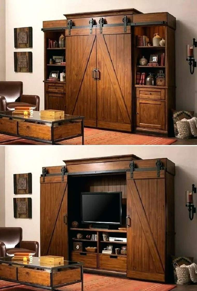 mueble tv gabinete madera