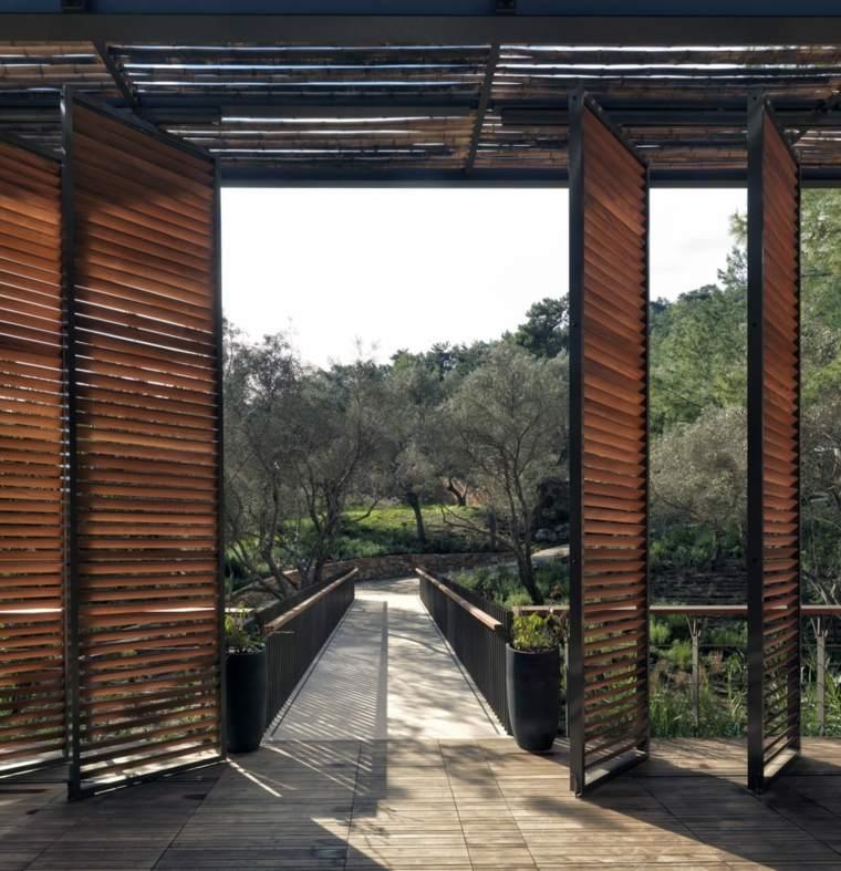 persianas de madera correderas