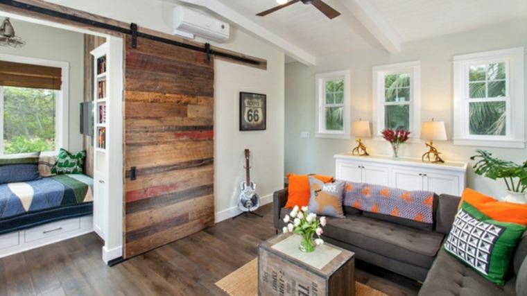 puerta corredera decorativa