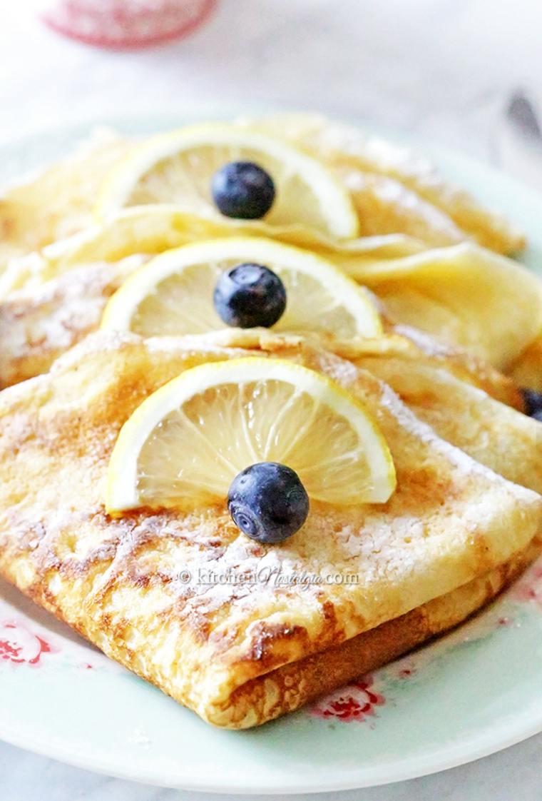 tortitas arandanos limon