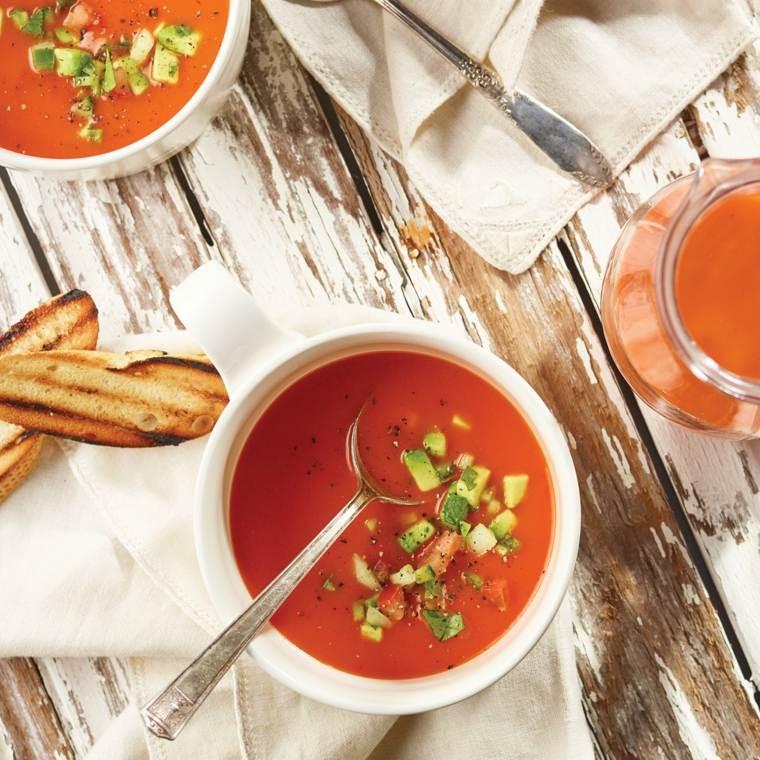 receta de gazpacho andaluz-casero