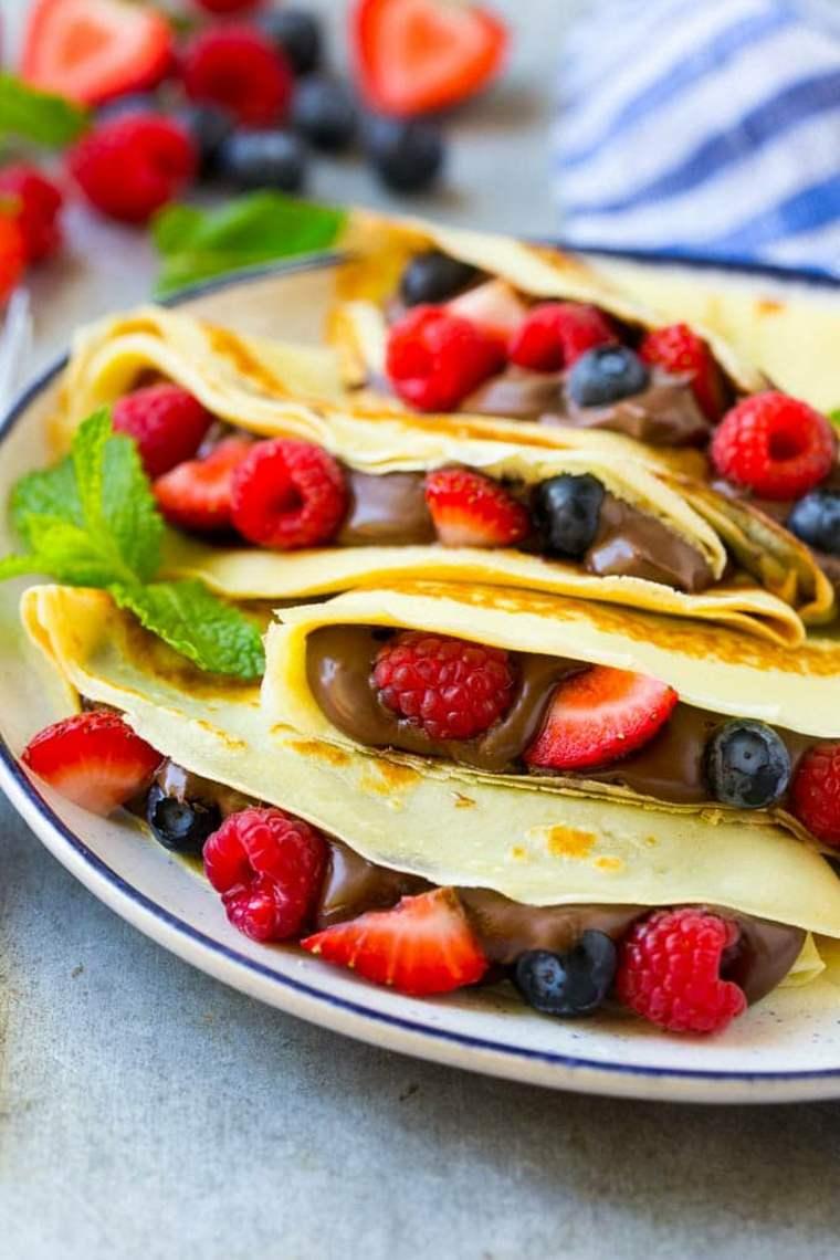 crepes con frutas
