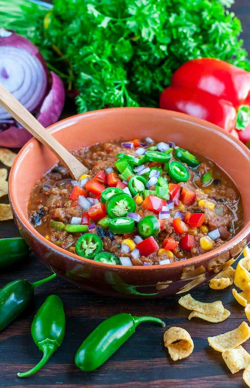 receta lentejas-chilli-vegetariano-delicioso-facil