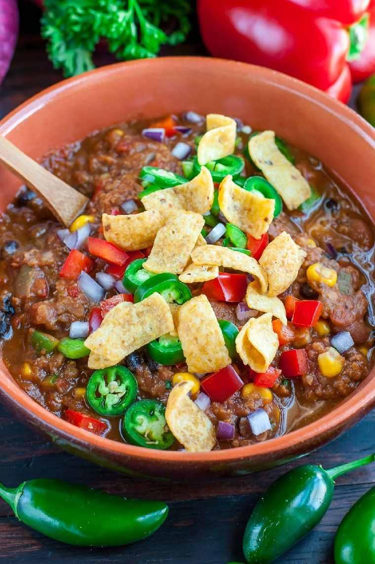 receta-lentejas-chilli-vegetariano-ideas-comida-facil-rapida-cena