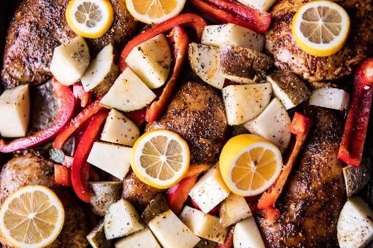 recetas-con-pechuga-de-pollo-limon-patatas