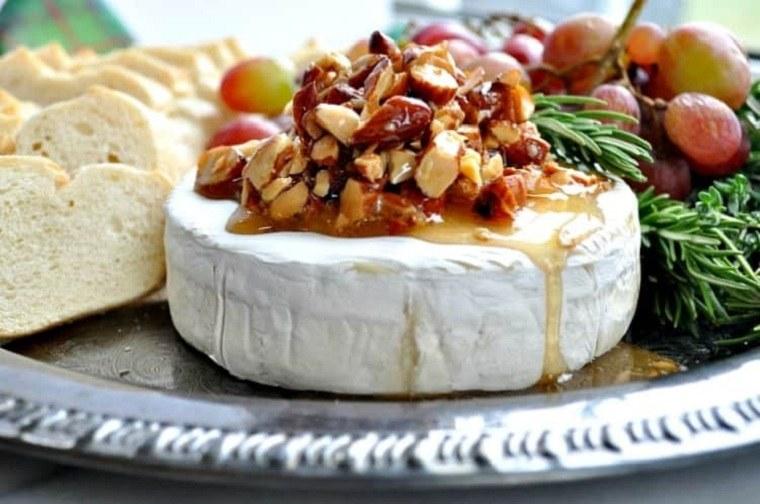 recetas de navidad-queso-brie-miel